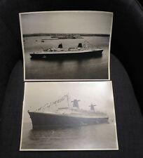 PAQUEBOT FRANCE deux grandes photographies d'époque
