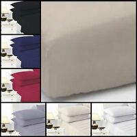 TC200 Egyptian Cotton FITTED SHEET 100% Egyptian Cotton Fitted Extra Deep Fitted