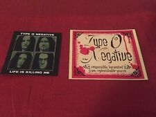 Type O Negative Life Is Killing Me RARE promo sticker Peter Steele & Wine label