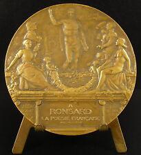 Médaille à Pierre de Ronsard la poésie française Dautel 1924 Poet poetry medal