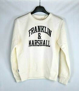 Felpa Bambino FRANKLIN & MARSHALL Made in Italy H322 Bianco Tg  8 anni