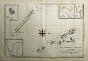 1788  Bonne Map of Vanuatu and New Caledonia, Pacific