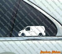 2x Lowered car outline stickers - for Mercedes Vito Van W638