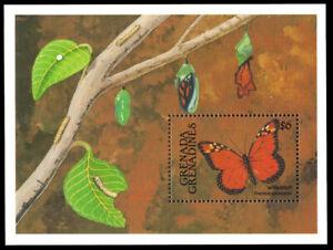 GRENADA-GRENADINES 1287 - Monarch Butterfly Souvenir Sheet (pb40053)