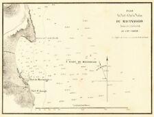 Plan du port et de la rade du Macinaggio. Cap Corse. Corsica. Gauttier 1851 Cart...