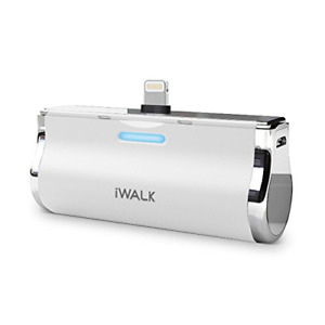 iWALK 2500mAh Portable Compact Built in Connector Docking External Battery Pack