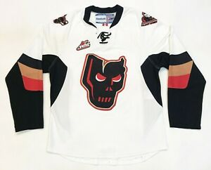 Reebok Calgary Hitmen CHL WHL Hockey Jersey Adult S White Sewn Canada