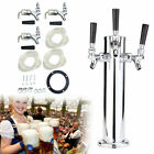 Triple Faucet Draft Beer Tower Bar 3-Tap Wine Drink Dispenser Stainless Durable