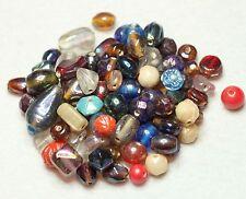 60g FANCY INDIAN GLASS BEADS MULTI/SHAPE/COLOUR/LUSTER/PLAIN (BBB607)