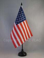DRAPEAU DE TABLE ETATS-UNIS 22x15cm - GRAND DRAPEAUX DE BUREAU AMÉRICAIN - USA 1