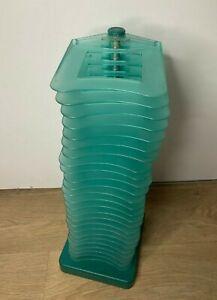 Retro MGL Plast Italy CD Tower/ Rack- Rotating 360* Spinning Holder- Holds 25