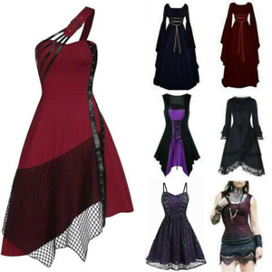 Womens Medieval Renaissance Gothic Fancy Dress Carnival Halloween Costume Party