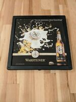 Non Working Warsteiner Beer Lighted Bar Sign  19x19