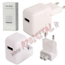 CARICATORE USB per APPLE 10 Watt 5.1V 2.1A CARICABATTERIE RETE CASA A1357 IPAD
