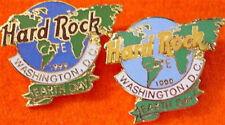 Hard Rock Cafe WASHINGTON DC 1999 EARTH DAY Globe 2 PINS Prototype & Retail SET