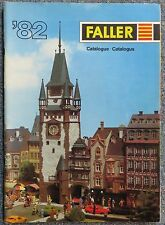 Faller -- Modellbau Jahres Katalog 1982  3-sprachig, engl-franz-niederl