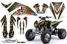 ATV Graphics Kit Quad Decal Sticker Wrap For Kawasaki KFX450R 08-14 EDHP GREEN