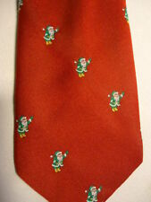 """Remington Christmas Red Green White Santa Claus Embroidered Tie 58"""""""
