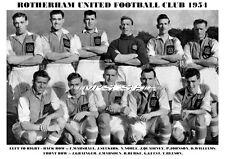 ROTHERHAM UNITED F.C.TEAM PRINT 1954 (GRAINGER/SELKIRK)