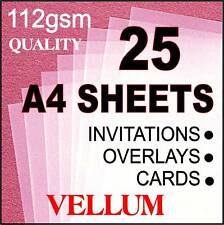QUALITY VELLUM TRANSLUCENT PAPER CLEAR 25 A4 SHEETS