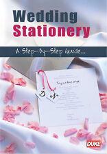 Wedding Stationery: Step-By-Step Guide - DVD (All Region) - NEW/SEALED  Freepost