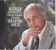 SOLTI: MAHLER Sinfonie Nr.5 / Symphony No. 5 Chicago SO DECCA CD 1984