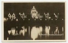 Night Lights Parliament Buildings VICTORIA BC Canada 1929 Gowen Real Photo PC