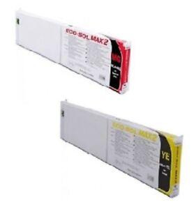 2 x Original ROLAND Tinte Eco-Sol MAX2 ESL4 SP-540i VS-640i VP-300i VP-640 INK