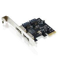 CSL PCI-Express PCIe 2.0 Controllerkarte Schnittstellenkarte SATA III eSATA III