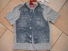 (70) Cooles RARE-The Kid Boys used look T-Shirt Jeans Westen & Logo Druck gr.104