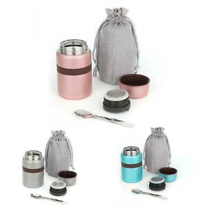 500ML Thermos Hot Food Flask Lunch Vacuum Storage Warm Soup Heat Travel Work