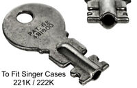 SINGER 221K / 222K Featherweight Original Case Key - Sewing Machine Key