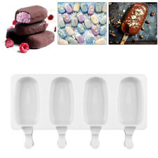4 Even Frozen Ice Cream DIY Pop Mold Popsicle Maker Lolly Mould Tray Pan Kitchen