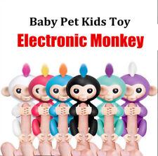 V-Design Interactive Baby Monkey Boy Girl Toy Motion&Sound Smart Pet Black Blue