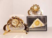 Art Deco Crystal Temptations Napkin Holders W/ Strass Swarovski Crystals NIP 2