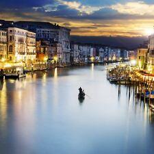 Wallario Premium Acrylglasbild Canal Grande Venedig Venezia Italien 50 x 50 cm