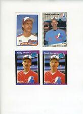 1989 Topps, Donruss, Fleer Randy Johnson Rookie Lot (4 cards)