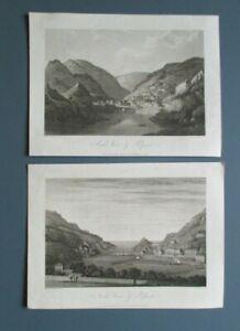 Cornwall. 'POLPERRO (2)'  Artist: J. Farington. Engr: W. Woolnoth. 1813.