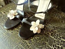 "Giuseppe ZANOTTI 4"" stilettos Flower SHELLS BEADS shoes heels 381/2  7 1/2"