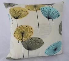 Iconic 50's Retro Dandelion Clocks Ivory/Yellow/Aqua Cushion Cover 45cm