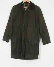 "BARBOUR Border Wax Jacket coat 36"" Green XS Small (JCF) UK12"