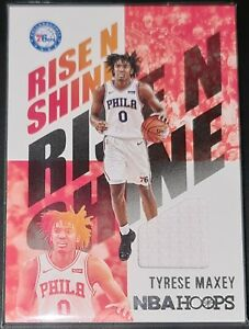 Tyrese Maxey 2020-21 Hoops RISE N SHINE MEMORABILIA Rookie Jersey Card RNS-TMX