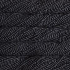 "Malabrigo Mecha ""Black 195"" Chunky Yarn 100% Merino Superwash 100g Knitting Wool"