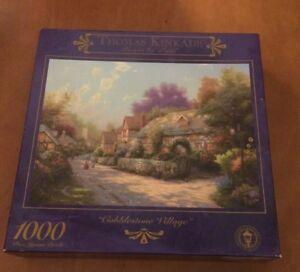 Ceaco 1000 Piece Puzzle Thomas Kinkade Cobblestone Village from 1999