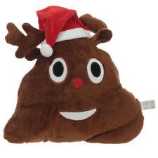 Plüsch Kissen Emotive Rentier Kacke Weihnachten Xmas lustiges Sofakissen Deko