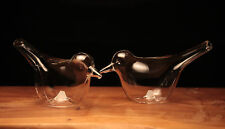 Bird Birds Glass Novelty Salt and Pepper pots Cruet set gift present Boxed