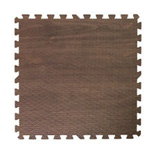 48 ft walnut dark wood grain interlocking foam puzzle tiles mat puzzle flooring