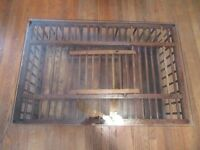 Vintage Primitives Chicken Crate Coffee Table With Glass Top