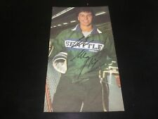 PETER NEDVED AUTOGRAPHED 4X7 VINTAGE CLIPPING PHOTO- SEATTLE THUNDERBIRDS PHOTO