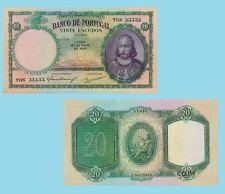 Portugal 20 Escudos 1954. UNC - Reproductions